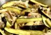 茄子と豚肉のみそ味炒め。茄子を少しの油で色と歯ごたえよく仕上げるコツは塩水浸け!
