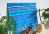 真夏のゼロ円インテリア。テーマカラーは鮮やかな青と藍、海をイメージして元気に!